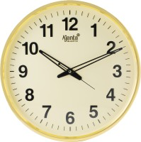 Ajanta Analog 32 cm X 32 cm Wall Clock(Beige, With Glass)