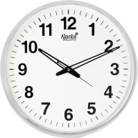 Ajanta Analog 32 cm X 32 cm Wall Clock(White, With Glass)