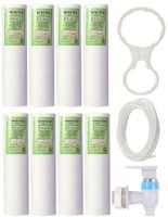 KRPLUS 8 Pcs Of Purerite PP/Spun Filter + 3 Meter RO Pipe + 1 RO Tap + Spanner Key Suitable For All Types Of Water Purifier (Set Of 11) Solid Filter Cartridge(5, Pack of 8)
