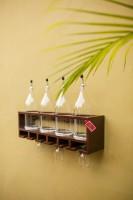 Onlineshoppee Wood Bottle Rack(Brown, 4 Bottles)