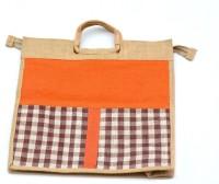 art godaam Jute Shopping Waterproof Multipurpose Bag(Orange, 20 inch)