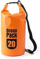 Arura 20L Outdoor Ocean Pack Waterproof Dry Bag Sack Storage Bag Organizer for Traveling (Orange) Waterproof Multipurpose Bag(Orange, 20 L)