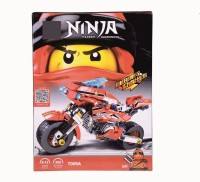 SANYAL Awesome Red Ninja Style Thunder Swordsman Building Blocks For Kids - 209 Pcs Blocks (Multicolored)(Multicolor)