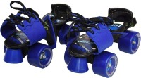 Jaspo Tenacity Adjustable Senior Roller Skates Suitable for Age Group 6 to 14 Years (blue) Quad Roller Skates - Size 6 UK(Blue)