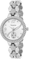 Wanton Silver crystal studded chronograph bracelet strap beautiful women Watch - For Girls
