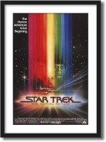 ArtCentral Star Trek The Motion Picture Movie Poster (Without Glass) Black Frame With Border Art Print Digital Reprint 21 inch x 15 inch Painting