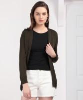 Van Heusen Solid NA Casual Women's Brown Sweater