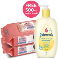 Johnson's Skincare Wipes with Top-to-toe Baby Wash