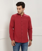 Blackberrys Men's Solid Casual Red Shirt