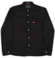 Indian Terrain Boys Solid Casual Black Shirt