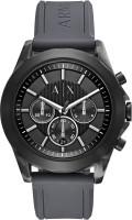 Armani Exchange Black7518 Armani Exchange Men's AX2609 Grey Silicone Watch Analog Watch  - For Men