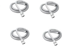 RoyaL Indian Craft RFT14 Set of 4 Stainless Steel Flexible Shower Tube/Hose 1.5 meter Hose Pipe
