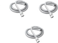 RoyaL Indian Craft RFT13 Set of 3 Stainless Steel Flexible Shower Tube/Hose 1.5 meter Hose Pipe