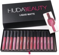 Huda Beauty Matte Liquid Lipstick(Set Of-16)(Multicolour)