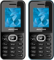 Adcom Lovee X4 Combo of Two Mobiles(Blue&Black)