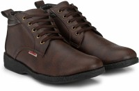 Provogue PRO-CAP-AW1016 Boots For Men(Brown)