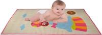 Guru Kripa Baby Products Rubber Baby Bed Protecting Mat(Pink, Medium)