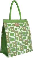 ECOTARA Golden Beauty Designer Classic Printed Multipurpose Premium Quality Eco Friendly Everyday Useful Travel Bag, Office Bag, Lunch Bag, Hand Bag, Gift Bag With Closing Zipper Natural Jute Bag For Mens & Womens (11.5