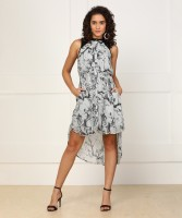 Pepe Jeans Womens High Low Grey Dress
