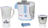 Quba JM 80 500 W Juicer Mixer Grinder(White, Blue, 2 Jars)
