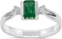 RAKAM 14kt Emerald, Diamond White Gold ring