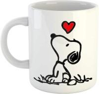 iKraft Cute Snoopy Tea Cup, Best Unique Gift Idea for His and Her - 11oz Ceramic CoffeeMug - Great Birthday Ceramic Mug(300 ml)