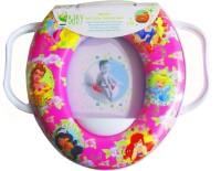 VBaby Soft Comfortable Princess Full Cushion Toilet Seat Trainer Seat with Handle Potty Seat(Pink)