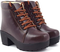 Beonza Ankle Length Boots For Women(Brown)