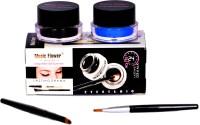 Music Flower Long Wear Gel Eye Liner(Black,Blue) 3 g(Blue & Black)