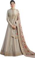 Ethnic Yard Silk Embroidered Semi-stitched Salwar Suit Dupatta Material