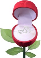 Sukai Jewels Sensational 'S' with Rose Alloy, Brass Cubic Zirconia Rhodium Plated Ring