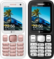 Ssky N230 Power Combo of Two Mobiles(Rose Gold, Black&Silver)