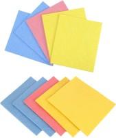 MotoPanda 10pc Set Kitchen Sponge Wipe / All Surface Sponge Cloth made of 100% Biodegradable Cellulose Wipes(Multicolor)