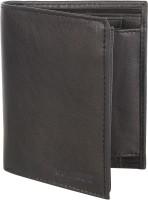 Spairow Men Black Genuine Leather Wallet(8 Card Slots)