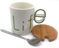 Satyam Kraft Designer Life Ceramic Mug(300 ml)