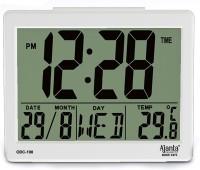AJANTA Digital 10.5 cm X 12.5 cm Wall Clock(White, Without Glass)