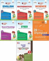 Olympiad Champs Science, Mathematics, English, Logical Reasoning, Cyber & GK Class 1 with 28 Mock Tests (set of 7 books)(English, Paperback, Disha Experts)