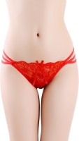 DealSeven Fashion Women Thong Red Panty(Pack of 1)