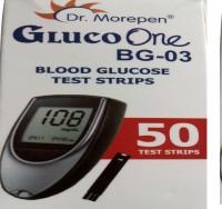 Dr. Morepen Gluco One BG-03 Glucometer Strips (50 Strips)