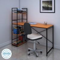 @home by Nilkamal Dalton Engineered Wood Study Table(Free Standing, Finish Color - Walnut)