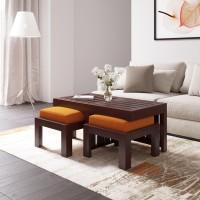 Flipkart Perfect Homes PureWood Sheesham Coffee Table(Finish Color - Mahogany)
