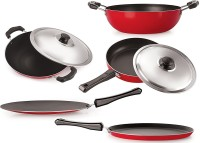 Omic Classic Range Best Quality Non Stick Cookware Gift Set (Pack Of 5) Cookware Set(PTFE (Non-stick), 5 - Piece)