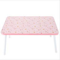 FurnCentral Engineered Wood Portable Laptop Table(Finish Color - Hello Kitty)
