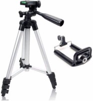 eDUST Premium Quality TRIPOD 3110A - Light Weight Metal Extendable 3Way Head with Built In Level Indicator Tripod(Black, Silver, Supports Up to 1500 g)