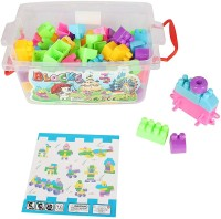 Miss & Chief Early Learning Building Blocks In The Box (87 Pcs)(Multicolor)