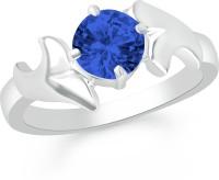 Divastri Brass, Alloy Cubic Zirconia Rhodium Plated Ring