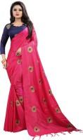 Tishnagi Designer Embroidered Bollywood Silk Saree(Pink)
