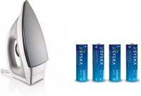 Syska SDI-09 + Free 4 battery 1000 W Dry Iron(Grey White)