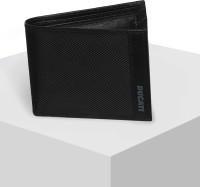 DUCATI Men Black Genuine Leather Wallet(3 Card Slots)