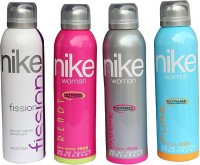 Nike Deodorants For Women/Girls Combo Set Deodorant Spray  -  For Women(200 ml, Pack of 4)